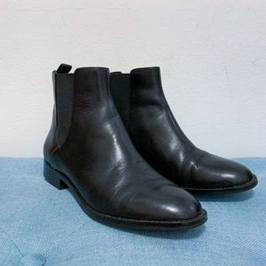 Black Leather Chelsea Boots Michael Kors Size 7